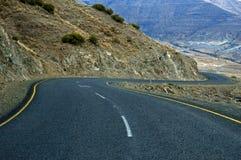 Caminos 6 de Lesotho Foto de archivo