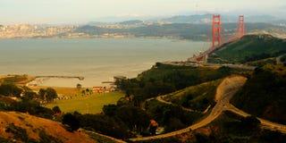 Caminos cerca de puente Golden Gate Foto de archivo libre de regalías