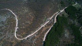 Caminos Curvy de la montaña Fotografía de archivo