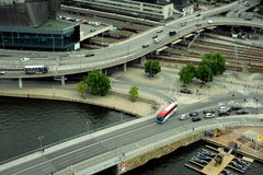 Caminos de Estocolmo Foto de archivo