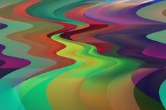 Caminos del arco iris Stock de ilustración