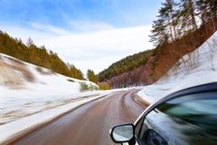 Caminos del invierno Foto de archivo libre de regalías