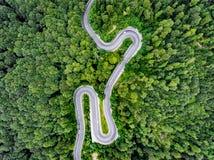 Caminos desde arriba imagen de archivo
