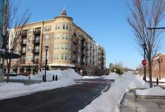 Caminos despejados después de la tormenta de la nieve Fotografía de archivo libre de regalías