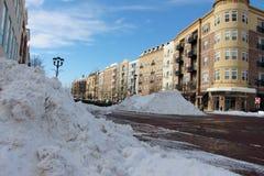 Caminos despejados después de la tormenta de la nieve Fotos de archivo libres de regalías