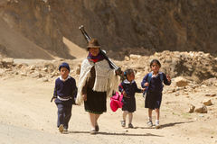 Caminos ecuatorianos Fotos de archivo