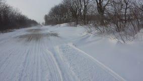 Caminos el Moldavia del invierno Imágenes de archivo libres de regalías