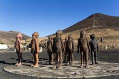 Caminos en Fuerteventura Fotos de archivo
