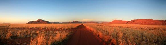 Caminos en Namibia imagen de archivo