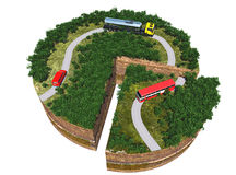 Caminos modelo Imagen de archivo