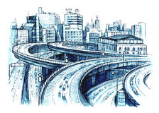 Caminos urbanos Imagenes de archivo