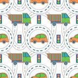 Caminos y camiones stock de ilustración