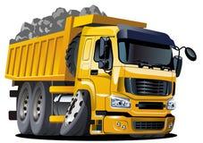 Camion à benne basculante de dessin animé de vecteur Photographie stock libre de droits