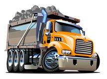 Camion à benne basculante de dessin animé de vecteur Image libre de droits