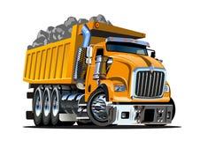 Camion à benne basculante de dessin animé de vecteur Images libres de droits