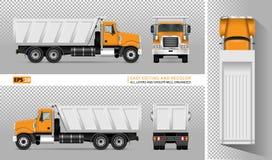 Camion à benne basculante de vecteur Images stock