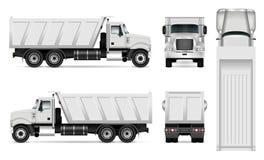 Camion à benne basculante de vecteur Photographie stock