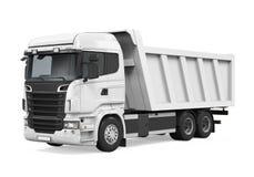 Camion à benne basculante de verseur d'isolement Images libres de droits