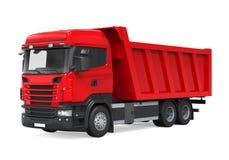 Camion à benne basculante de verseur d'isolement Image stock