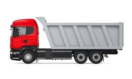 Camion à benne basculante de verseur d'isolement Photographie stock