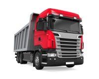 Camion à benne basculante de verseur d'isolement Photographie stock libre de droits