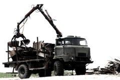 Camion à benne basculante lourd. Images libres de droits
