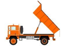 Camion à benne basculante orange illustration stock