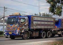 Camion à benne basculante privé de roue de Hino 10 Images libres de droits