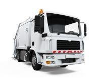 Camion à ordures d'isolement Photos stock