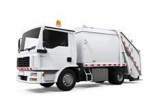 Camion à ordures d'isolement illustration stock
