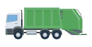 Camion à ordures d'isolement sur le fond blanc image stock