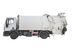 Camion à ordures d'isolement sur le fond blanc photo stock