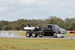 Camion actionné par avion à réaction Photo stock