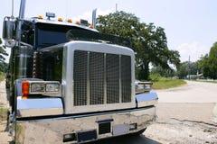 Camion americano con gli stainelss d'acciaio Immagini Stock Libere da Diritti