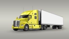 Camion americano del carico illustrazione di stock