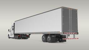 Camion americano del carico Immagini Stock Libere da Diritti
