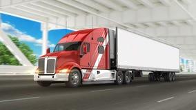 Camion americano del carico Fotografie Stock Libere da Diritti
