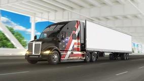 Camion americano del carico Immagini Stock