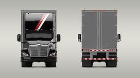 Camion americano del carico Fotografie Stock