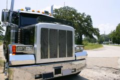 Camion américain avec des stainelss en acier Images libres de droits