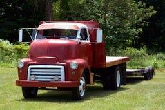 Camion antico dei semi Immagine Stock Libera da Diritti