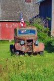 Camion antico sul quarto di luglio Immagini Stock Libere da Diritti