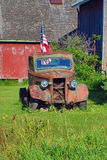 Camion antique sur le quatrième de juillet Images libres de droits