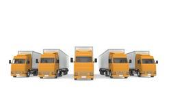 Camion arancioni. Parte della serie di logistica. Fotografie Stock Libere da Diritti