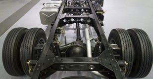 Camion arrière de roue avec l'essieu arrière différentiel images libres de droits