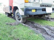 Camion attaccato in fango Fotografie Stock
