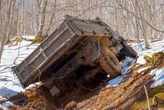 Camion attaccato in una sporcizia fotografia stock