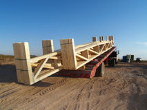 Camion au chantier de construction - horizontal Photos stock