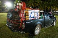 Camion avec des matériels de ballon Image stock