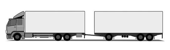Camion avec la remorque Photographie stock libre de droits